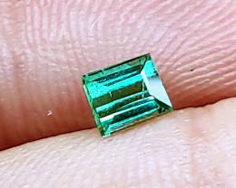 Unheated Steely Green-Blue Tourmaline  (Paprok Mine, Afghanistan)