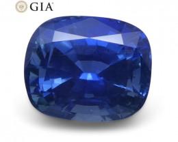 1.69 ct Blue Sapphire Cushion GIA Certified Unheated