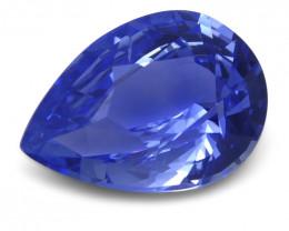 1.99 ct Blue Sapphire Pear GIA Certified Unheated, Sri Lanka