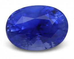 3.33 ct Blue Sapphire Oval GIA Certified Unheated, Sri Lanka