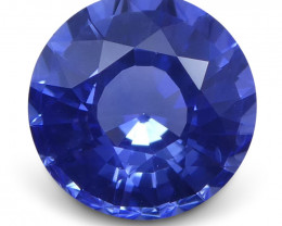 1.30 ct Blue Sapphire Round GIA Certified Sri Lanka