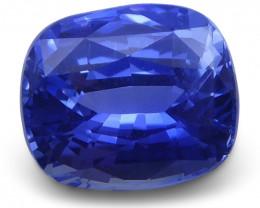 1.2 ct Blue Sapphire Cushion GIA Certified Unheated, Sri Lanka