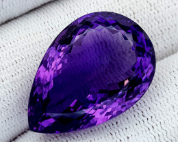34Ct Natural Amethyst Gemstones IGCam98