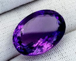30Ct Natural Amethyst Gemstones IGCam99
