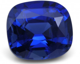 1.86 ct Blue Sapphire Cushion GIA Certified Ethiopian