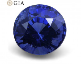 1.65 ct Blue Sapphire Round GIA Certified Unheated