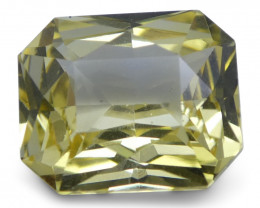 1.74 ct Yellow Sapphire Octagonal GIA Certified Unheated, Sri Lanka