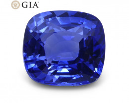 1.54 ct Blue Sapphire Cushion GIA Certified Sri Lanka