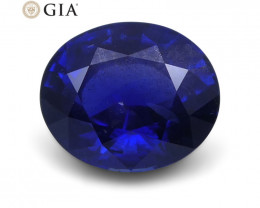 1.1 ct Blue Sapphire Oval GIA Certified Unheated, Burmese