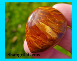 38mm 56ct Red Pietersite VIDEO LINK red drop shape cabochon AAA