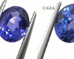 1.40ct Color Change Sapphire Oval GIA Certified Unheated, Sri Lanka, Violet