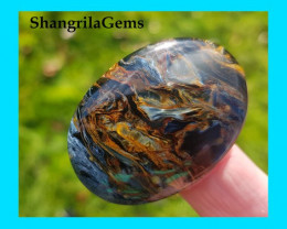 41mm 51ct Pietersite  cabochon blue red and gold oval cabochon AAA 41 by 29