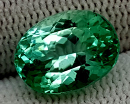 6.55CT GREEN SPODUMENE  BEST QUALITY GEMSTONE IGC56