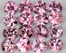 2.30 mm Round 16pcs Pink Sapphire [VVS]