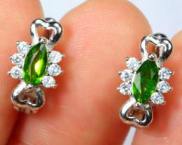 11.93cts 925 Sterling Silver Earrings /ZA03
