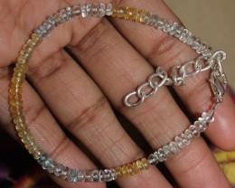 21 Crt Natural Multi Aquamarine Beads Bracelet 2