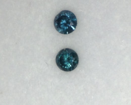 Natural Blue Diamond Pair 0.12TCW.