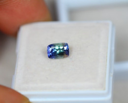 0.98Ct Greenish Violet Blue Tanzanite Octagon Cut Lot LZ1810