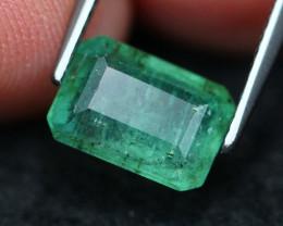 2.55Ct Natural Vivid Green Zambian Emerald A1306