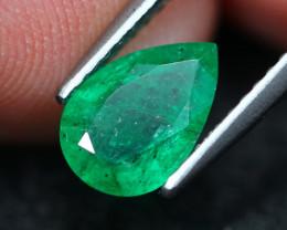 1.04Ct Natural Vivid Green Zambian Emerald A1307