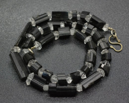 183 Carats  Tourmaline & Diamond Quartz Strand-1 Piece-