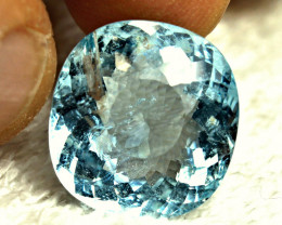 CERTIFIED - 16.27 Carat Blue Brazil SI Aquamarine - Gorgeous