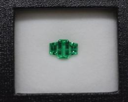 1.18 Carat Untreated Panjshir(Afghan) Emerald Ring layout
