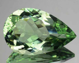 19.63 Cts Natural Prasiolite / Mint Green Amethyst Pear Cut Brazil
