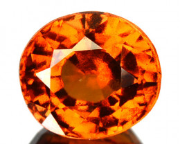 1.69 Cts Natural Cinnamon Orange Hessonite Garnet Oval Cut Sri Lanka