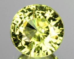 Natural Lime Green Chrysoberyl Round Cut 0.83 Cts Sri Lanka