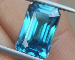 5.97cts, Blue Zircon,  Sapphire Blue