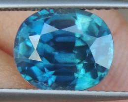 6.00cts, Blue Zircon,  Rare Color