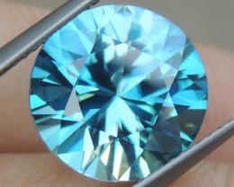 8.11cts, Blue Zircon,  Top Cut