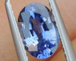 1.14cts No Heat, Certified  Sapphire, Top Cut
