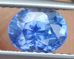 1.20cts No Heat, Certified  Sapphire, Top Cut