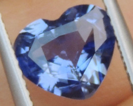 1.51cts No Heat, Certified  Sapphire, Top Cut