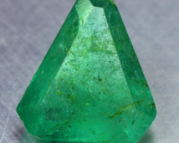 0.84 Cts NATURAL EARTH MINED GREEN COLOR COLOMBIAN EMERALD LOOSE GEMSTONE