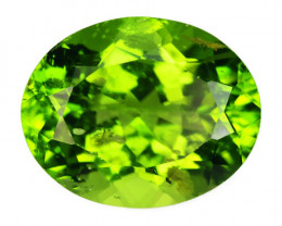 4.55 Cts NATURAL FANCY GREEN COLOR PERIDOT LOOSE GEMSTONE
