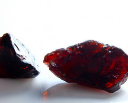 28.90  CT Natural - Unheated Red Garnet Rough Lot