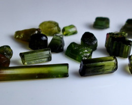 27.30 Ct Unheated ~ Natural  Superb Green Tourmaline Rough Lot