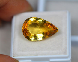 9.40Ct Yellow Citrine Pear Cut Lot B15/6