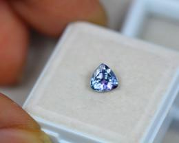 0.89ct Violet Blue Tanzanite Trillion Cut Lot V3316