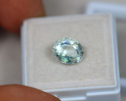2.67ct Blue Aquamarine Oval Cut Lot V3324