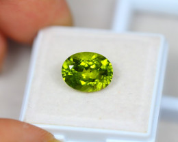 4.44ct Green Peridot Oval Cut Lot V3326