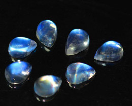 5.70 Cts Unseen Natural Royal Blue Moonstone Pear Cab 7x5mm