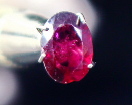 1.30 CT Natural - Unheated Pink Red Garnet Faceted Gemstone