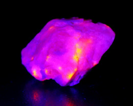 72.90 CT Natural -UV Light Color Change  Purple Hackmanite Specimen