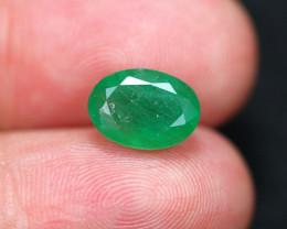 2.81Ct Natural Vivid Green Zambian Emerald  B1414