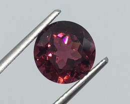 2.90 Carat VVS Rhodolite Garnet Crimsom Red Unheated Precision Qua