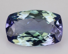 1.27 CTS FANCY VIOLET BLUE COLOR NATURAL TANZANITE (ZOISITE) LOOSE GEMSTONE